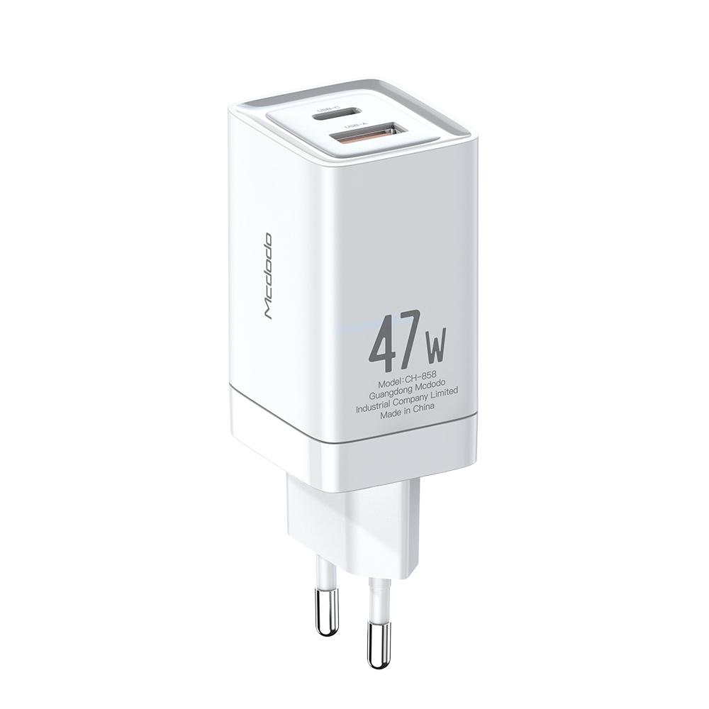 맥도도 초고속 미니 2포트 멀티충전기 GaN PD3.0 PPS 47W, 화이트, 1개