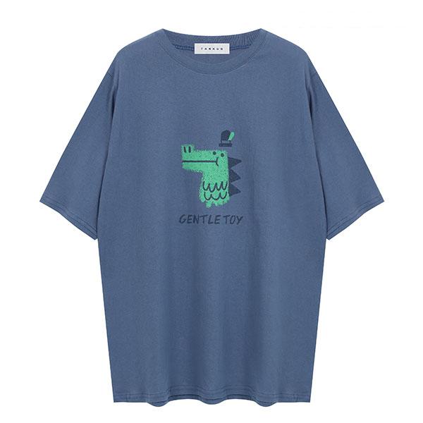 [썸머 프리핏] 탱커스 여성용 다이노 프린트 루즈핏 라운드 반팔 티셔츠 - 랭킹63위 (10510원)