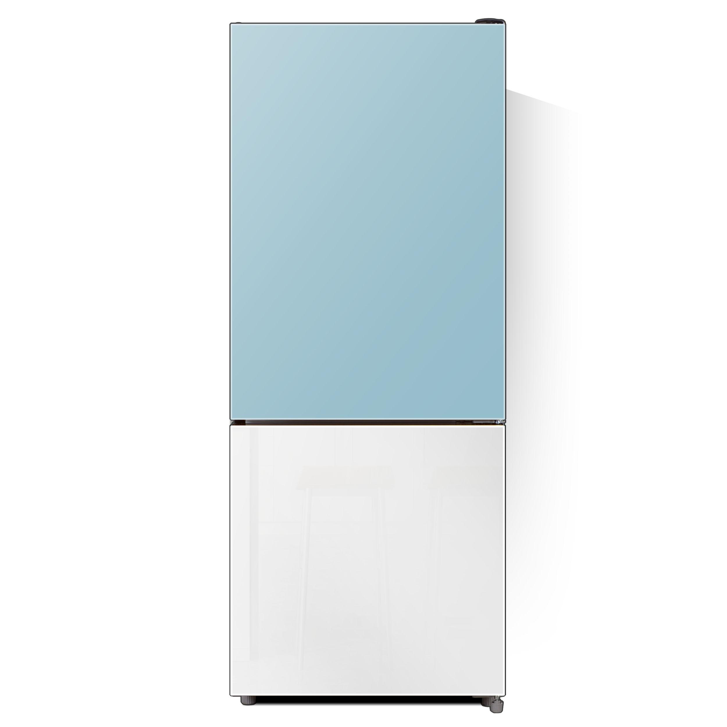하이얼 글라스 도어 냉장고 스카이블루&화이트 172L 방문설치, HRP176MDMW-9-4500126581