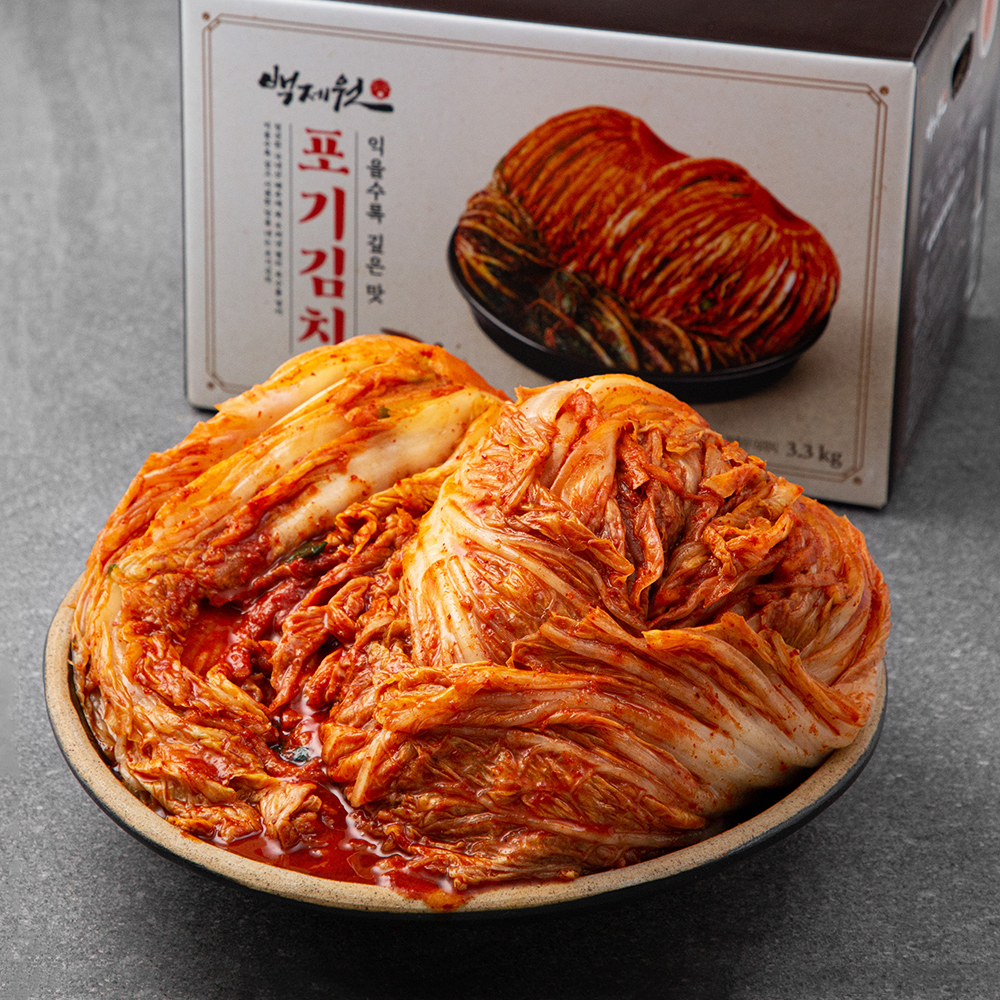 프레시지 백제원 포기김치, 3.3kg, 1개