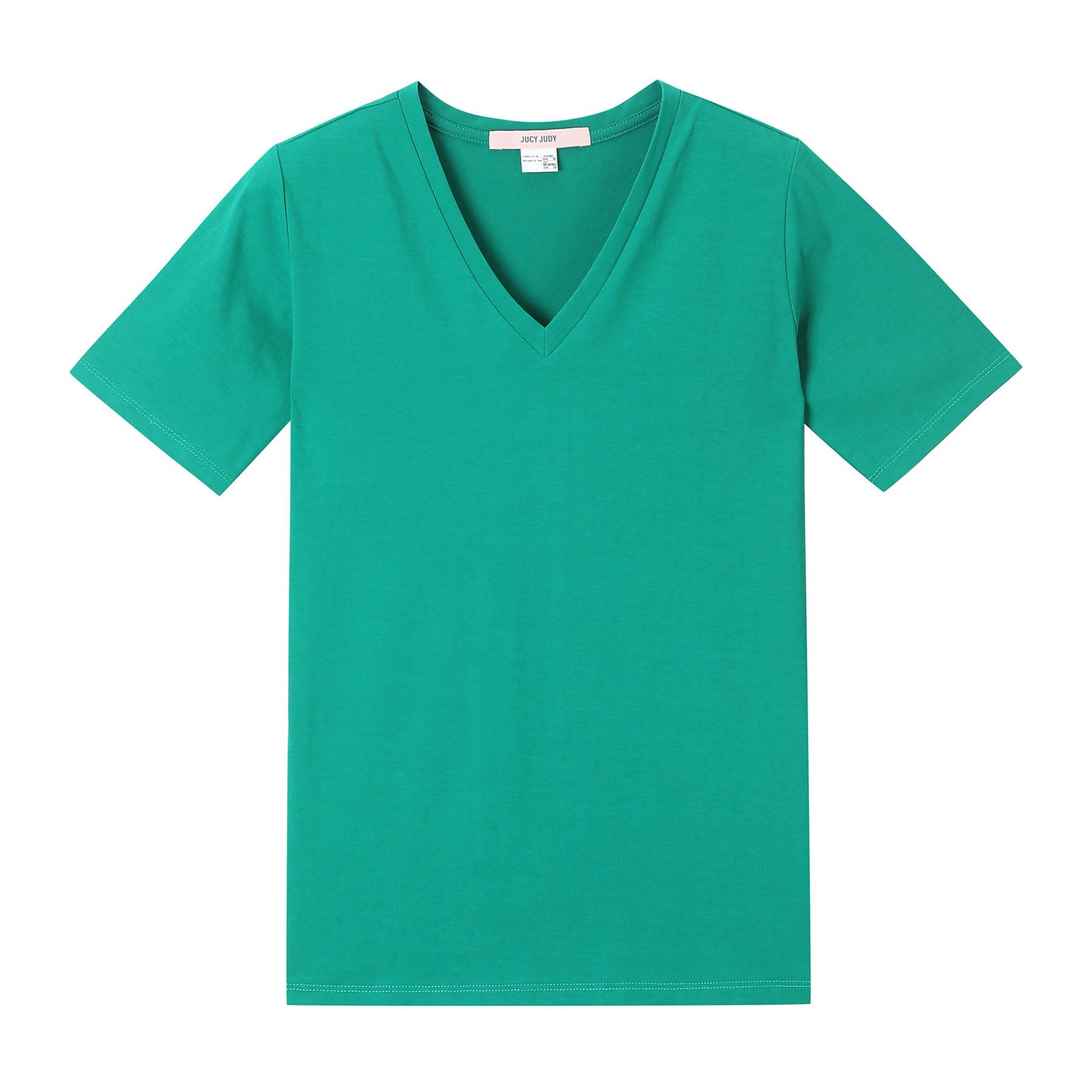 쥬시쥬디 여성용 J코튼스판V넥기본 티셔츠 JUTS326E-7-5541786322