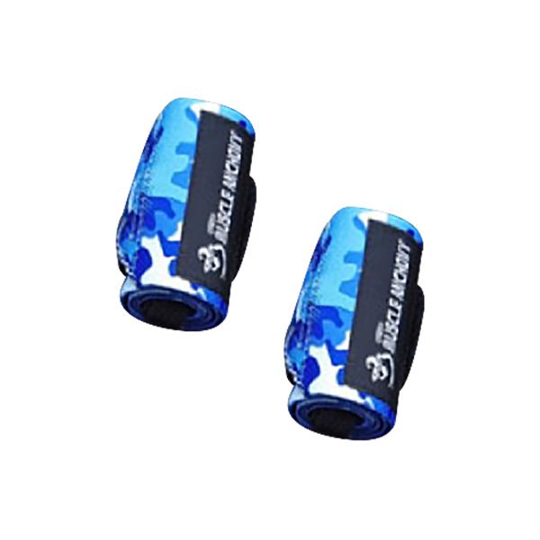 근육멸치 헬스 손목보호대 카모 리스트랩 블루, 2개-28-5602555029