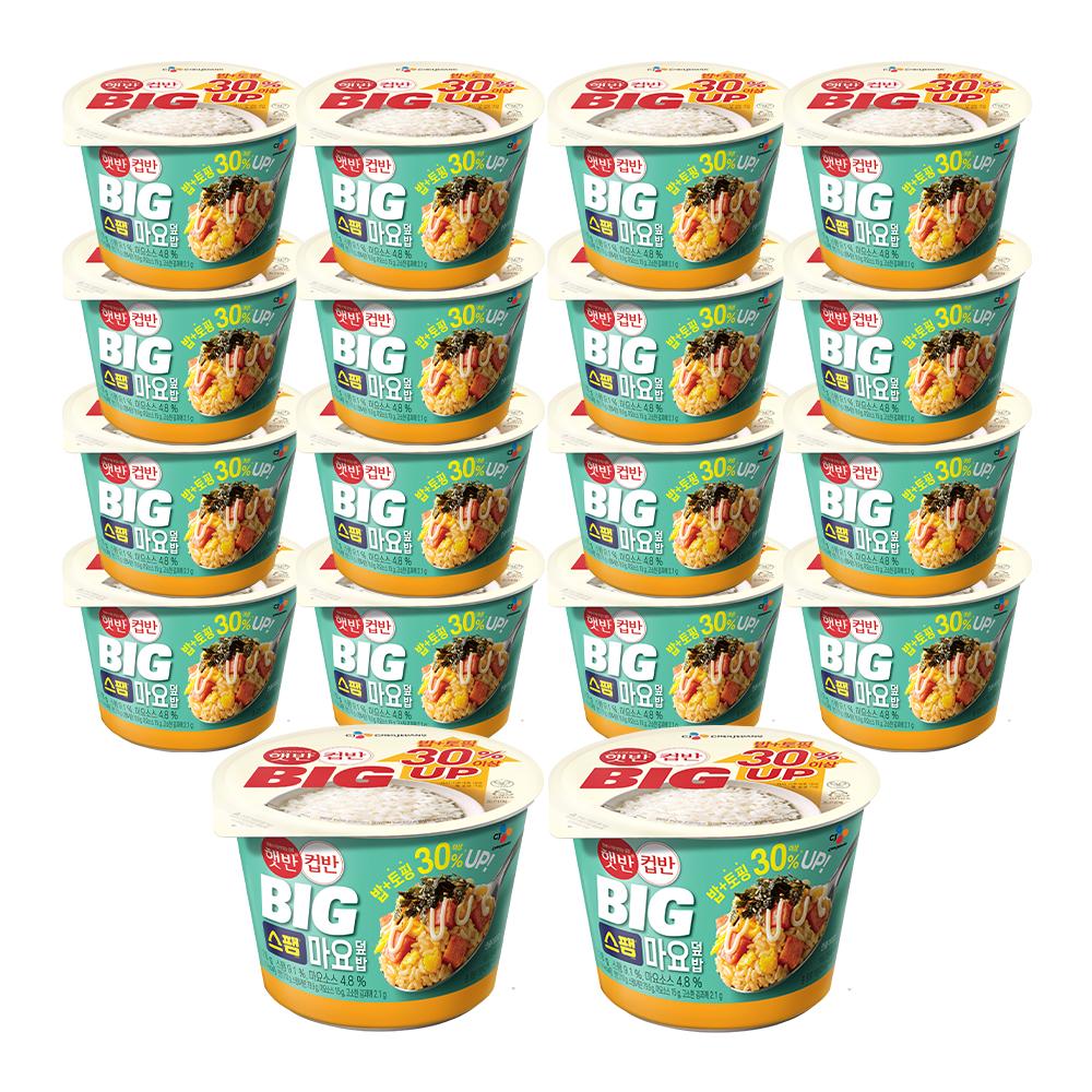 햇반 BIG 컵반 스팸마요덮밥, 307g, 18개-9-5637877000