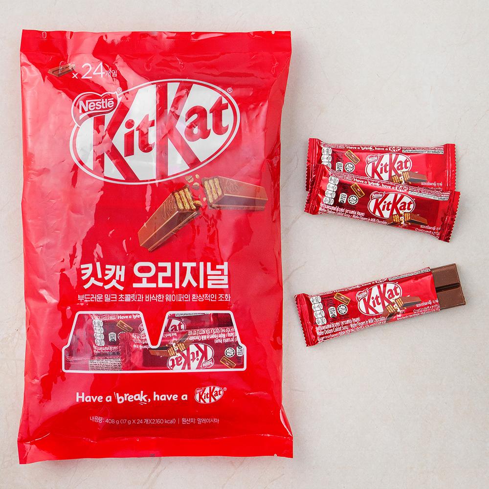[Gold box] KitKat 오리지널 24입, 408g, 1개 - 랭킹18위 (11760원)