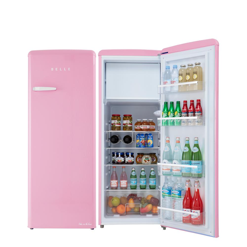 BELLE 레트로 글라스 원도어 냉장고 240L 방문설치, RS24APK (POP 5689185731)