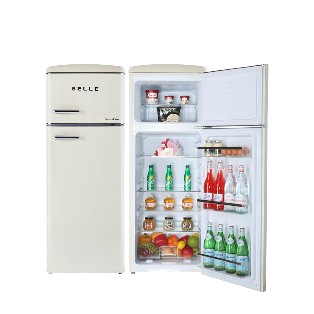 BELLE 뉴레트로 소형 상 냉장고 220L 방문설치, NRD22ACM (POP 5689185889)
