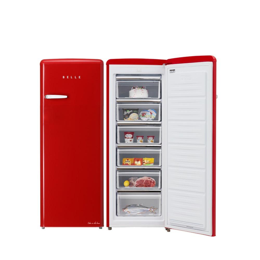 BELLE 레트로 글라스 소형 원도어 냉동고 180L 방문설치, SFS18AR (POP 5689186376)