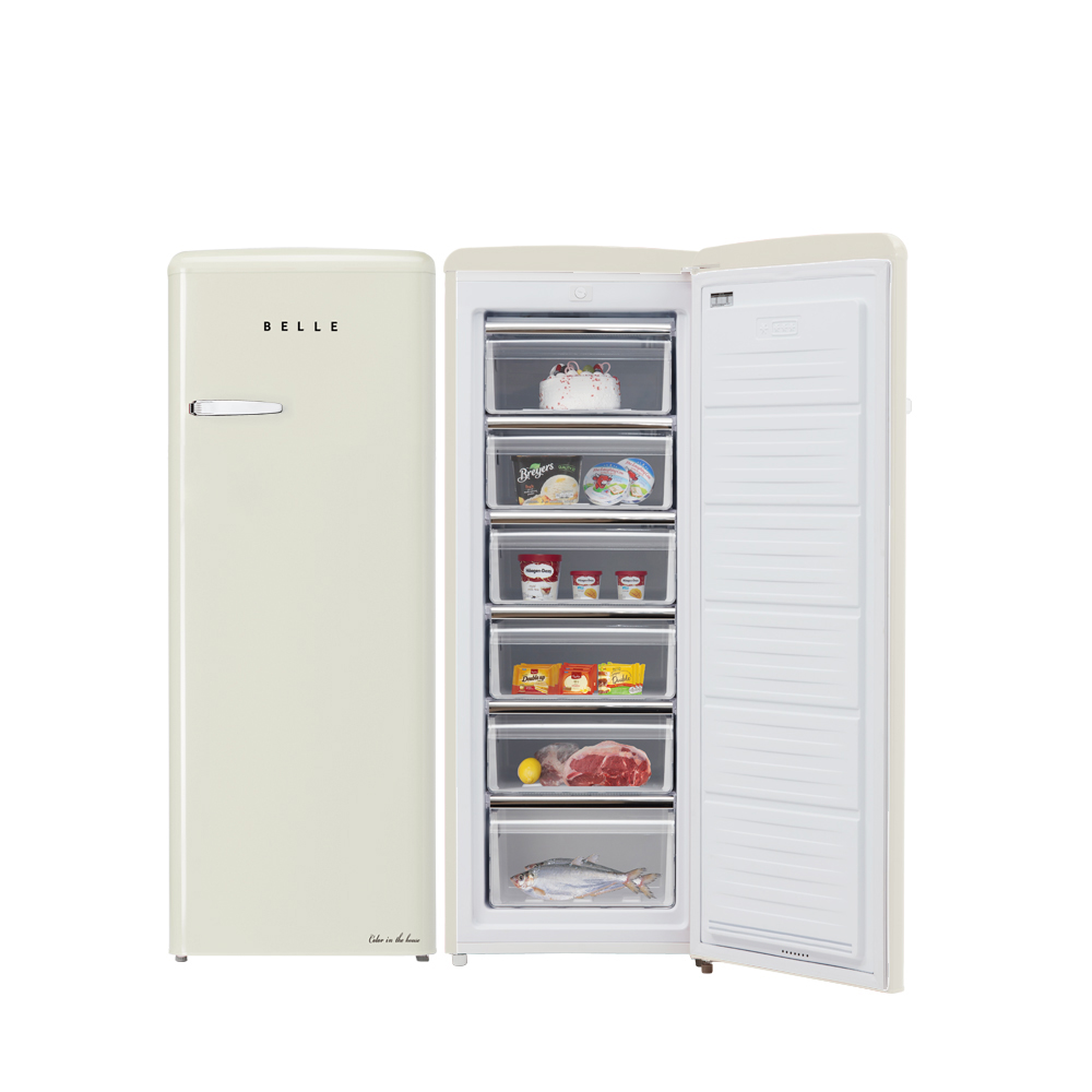 BELLE 레트로 글라스 소형 원도어 냉동고 180L 방문설치, SFS18AC (POP 5689186376)