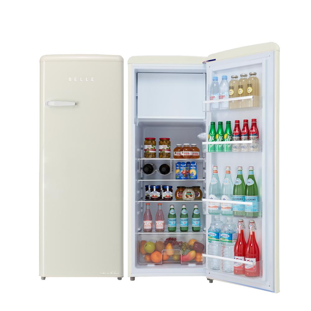 BELLE 레트로 글라스 원도어 냉장고 240L 방문설치, RS24ACM (POP 5689185731)