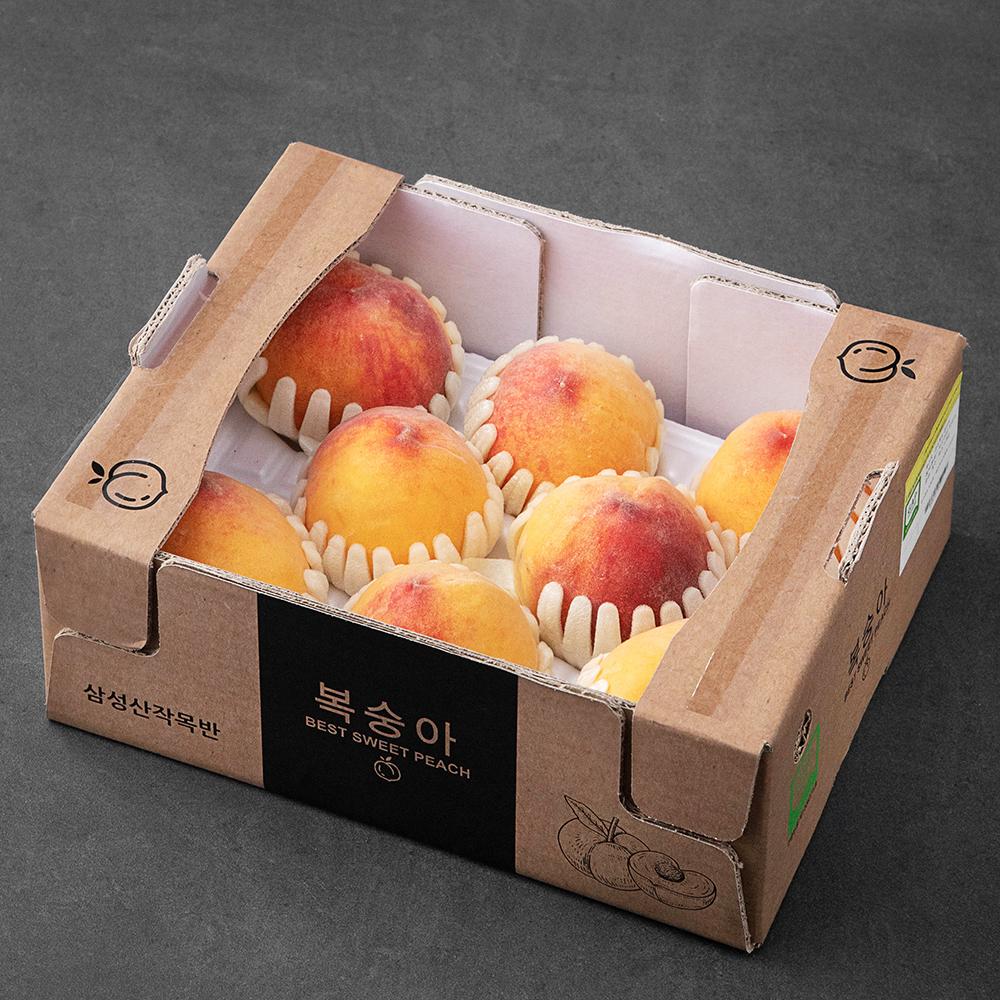 [식품] 가족 GAP 인증 청도 삼성산 황도 복숭아, 1.8kg, 1박스 - 랭킹17위 (19900원)