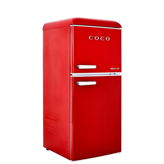 코코일렉 소형 미니 2도어 레트로 냉장고 117L 방문설치, CRA12RD-3-5717398352