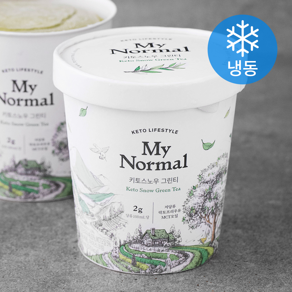 [마이노멀] 마이노멀푸드 키토스노우 그린티 녹차 아이스크림 (냉동), 474ml, 1개 - 랭킹2위 (10800원)