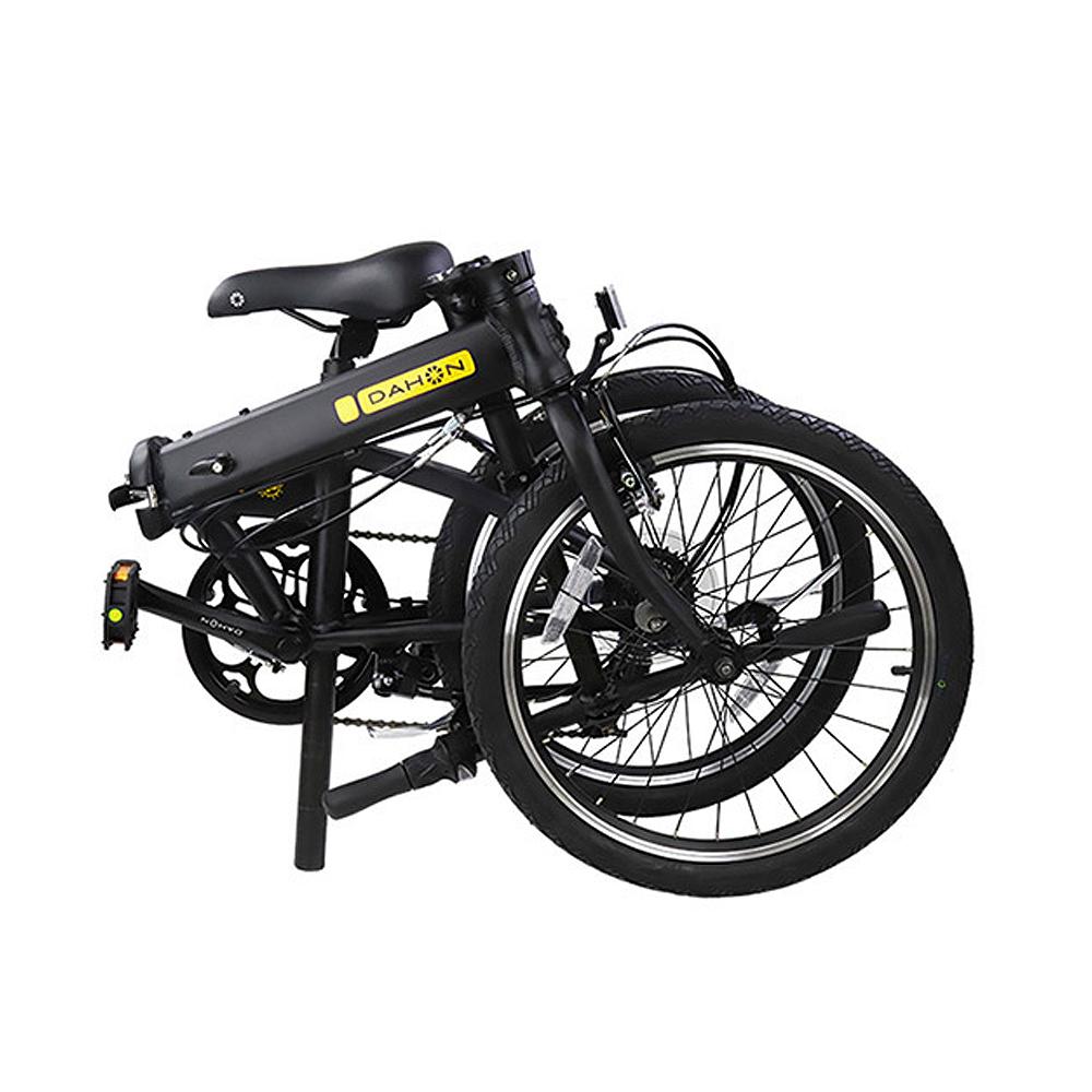 다혼 미니벨로 히트 접이식자전거, 블랙, 146cm