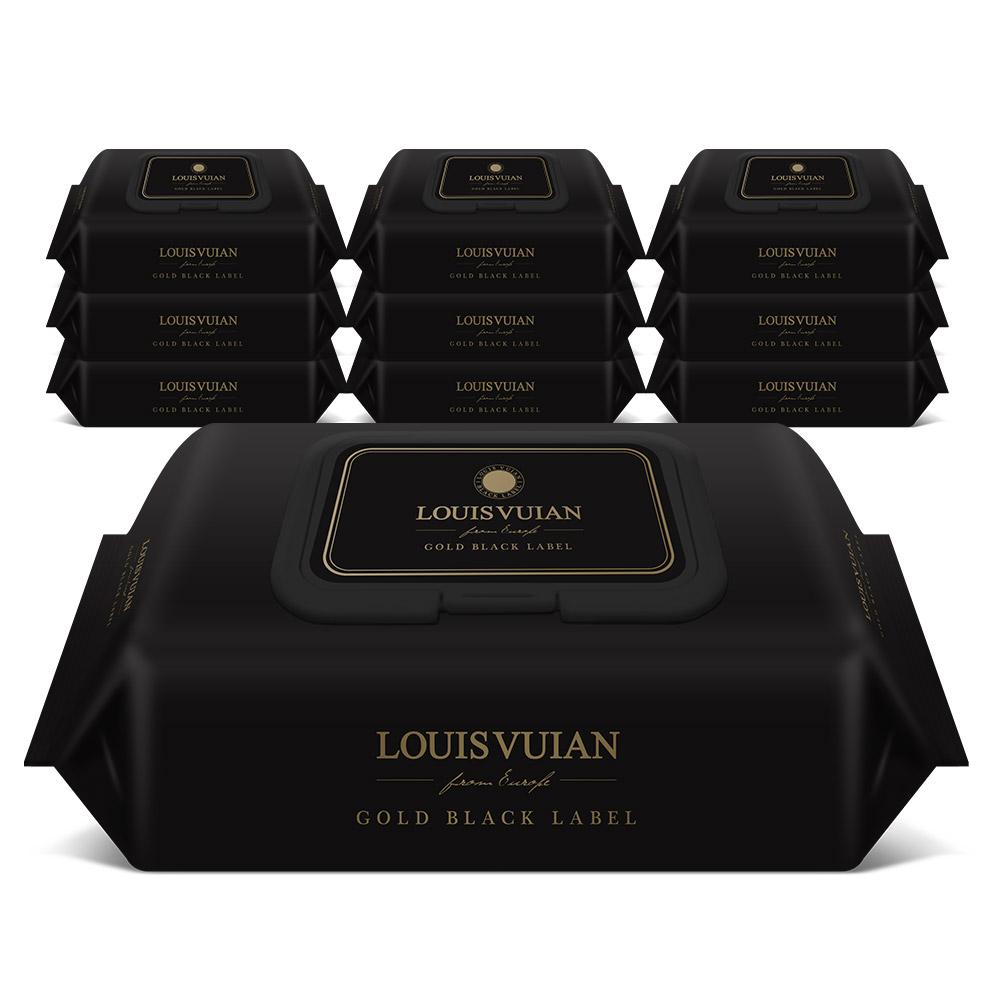 [Gold box] 루이비앙 골드블랙 엠보싱 아기물티슈 캡형, 70매, 10팩 - 랭킹5위 (14900원)