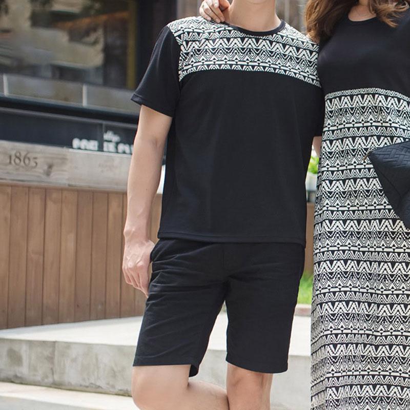 선남선녀 샹그리아 바캉스룩 남자 반팔 티셔츠