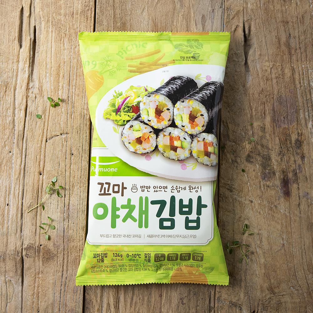 생가득 꼬마 야채 김밥 세트, 124g, 1개