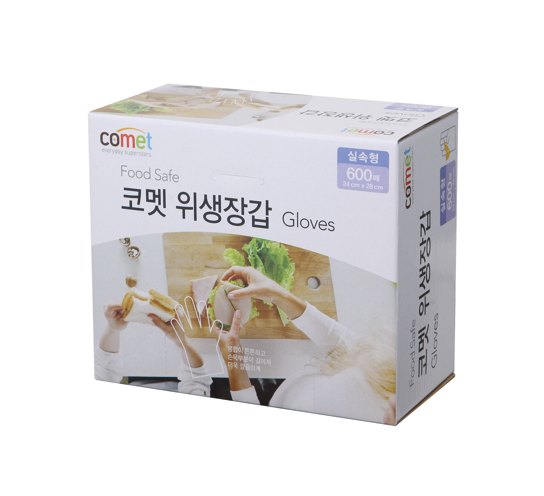 코멧 위생 비닐장갑 실속형 600매, 1개