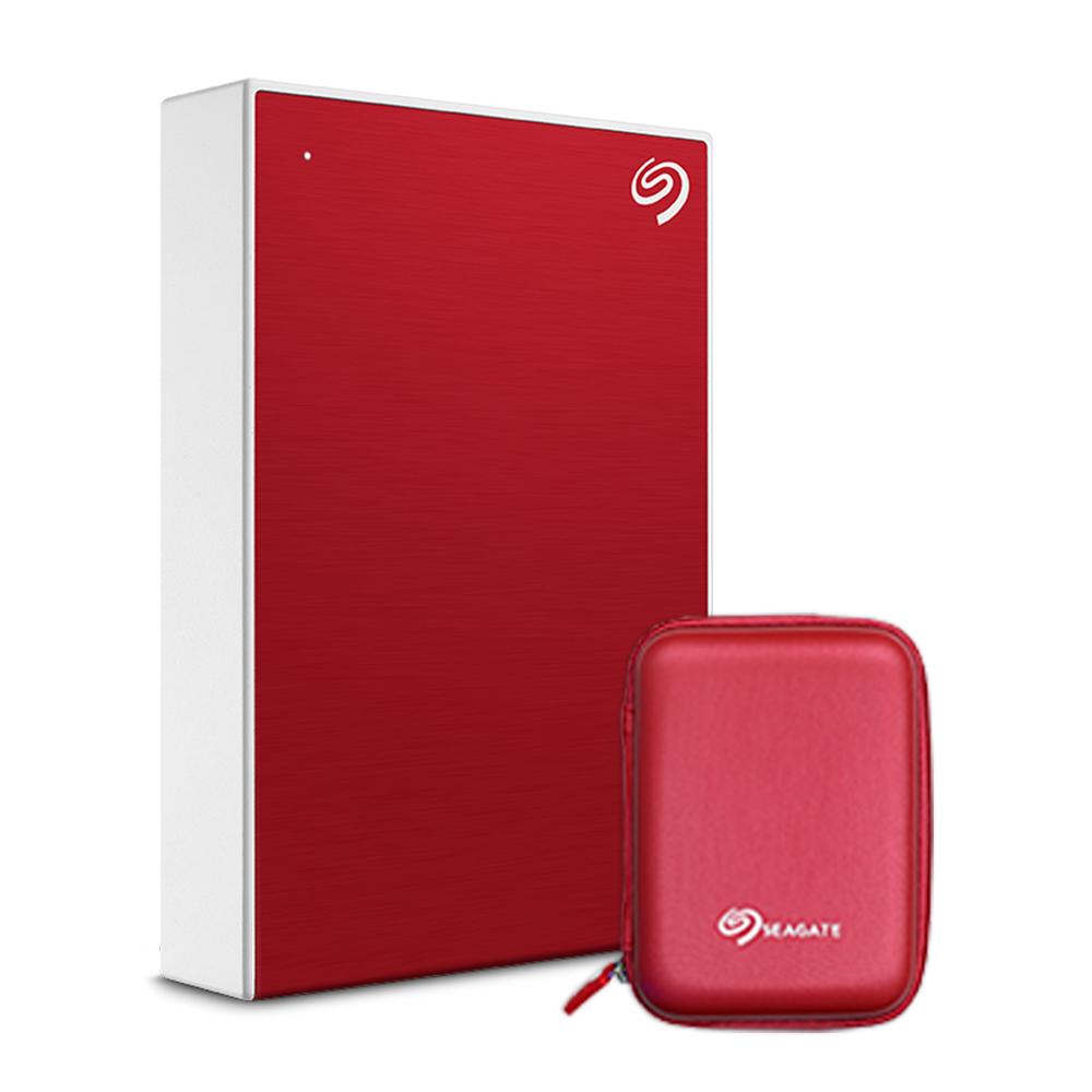 씨게이트 Backup Plus 포터블 외장하드 + 파우치, 5TB, Red