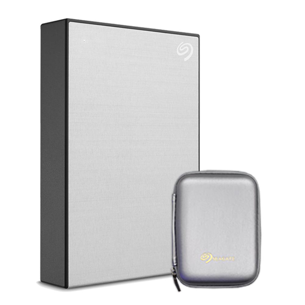씨게이트 외장하드 Backup plus Portable + Rescue + 파우치, 5TB, Silver (POP 214068177)