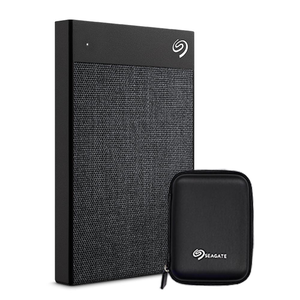 씨게이트 BACKUP PLUS ULTRA TOUCH 외장하드 STHH2000300 + 파우치 + 데이터 복구 서비스, 2TB, 블랙