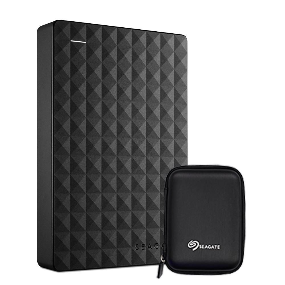 씨게이트 익스펜션 포터블 드라이브 외장하드 STEA500400 + 파우치, 500GB, 블랙 (POP 4889527)
