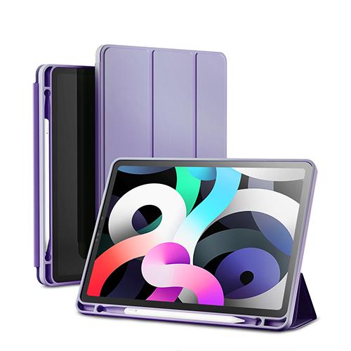 신지모루 스마트 커버 애플 펜슬 수납 태블릿PC 케이스, 라벤더 퍼플