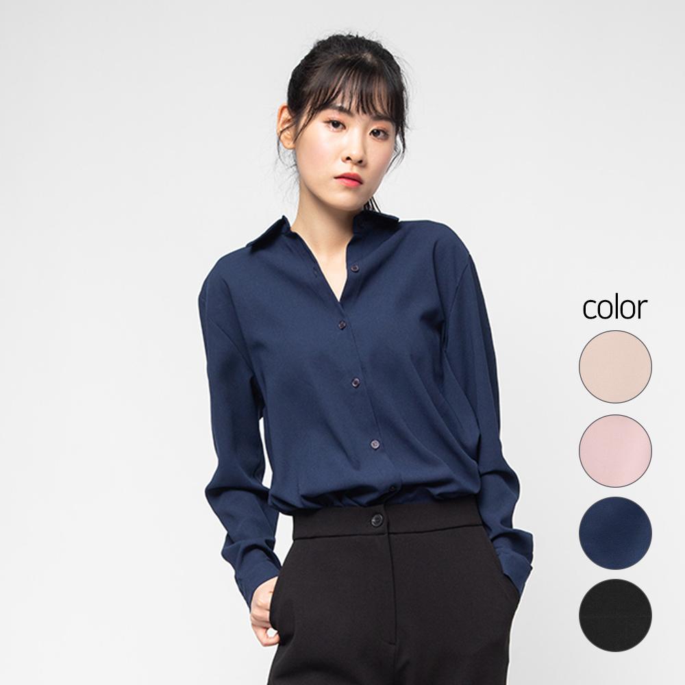 캐럿 여성 베이직 셔츠 블라우스