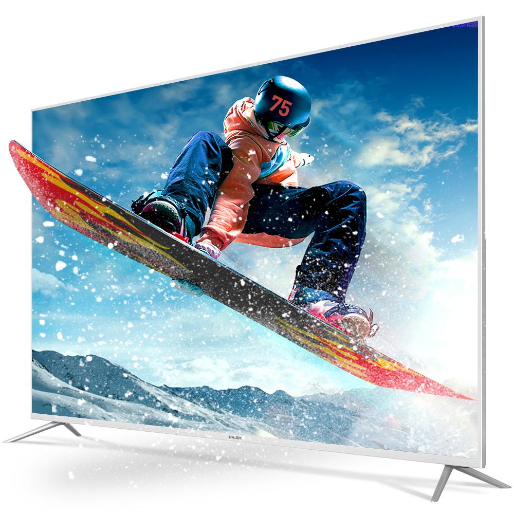 프리즘 4K UHD HDR TV 190.5cm PT750UD + HDMI 케이블, 스탠드형, 방문설치