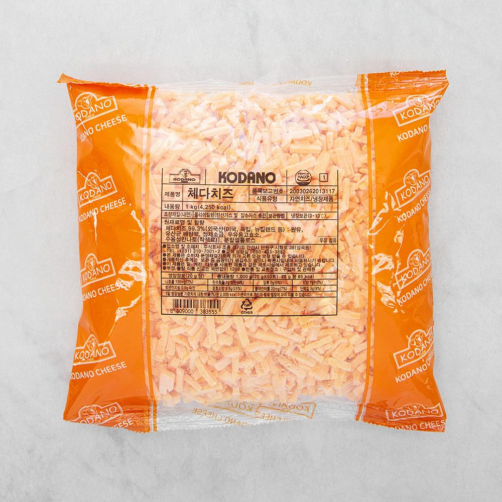 [체다치즈] 코다노 체다치즈, 1kg, 1개 - 랭킹8위 (11400원)