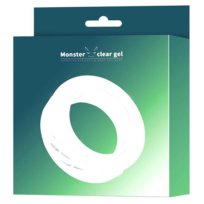 몬스터 클리어 겔 다용도 초강력 실리콘 투명 양면테이프 3m, 단일색상, 1개