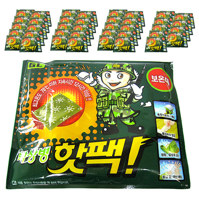 지엘 박상병 대용량 핫팩 140g, 40개