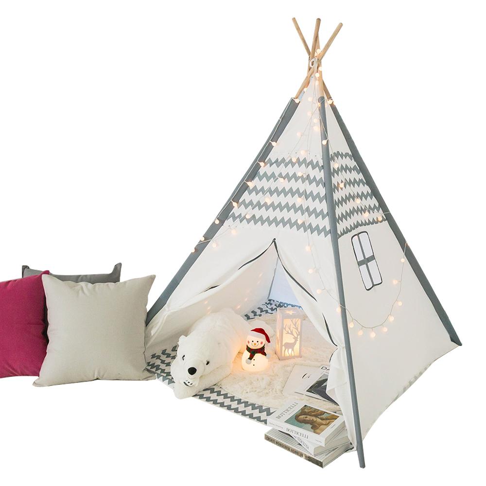 레토 실내외 겸용 인디언 키즈 놀이 텐트 LKT-P01, 화이트