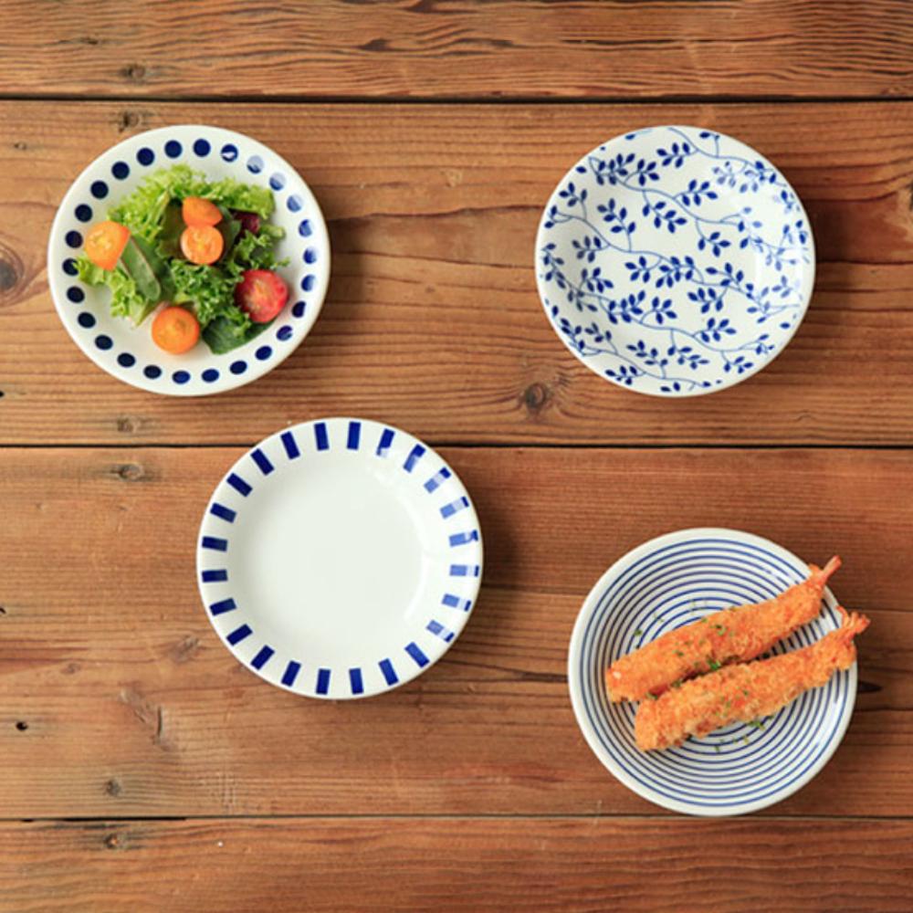 니코트 블루에가와리 접시 세트, 1세트, 4종