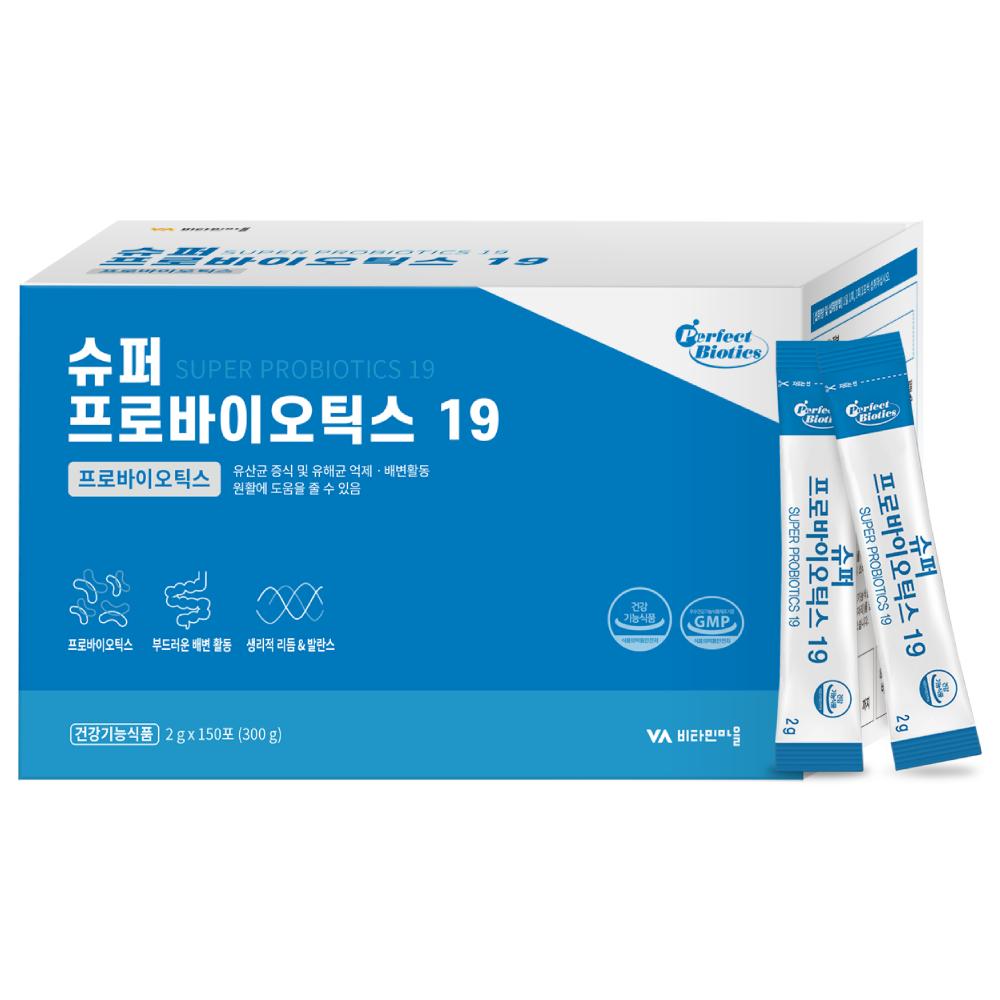퍼펙트바이오틱스 슈퍼 프로바이오틱스19 생유산균, 2g, 150개