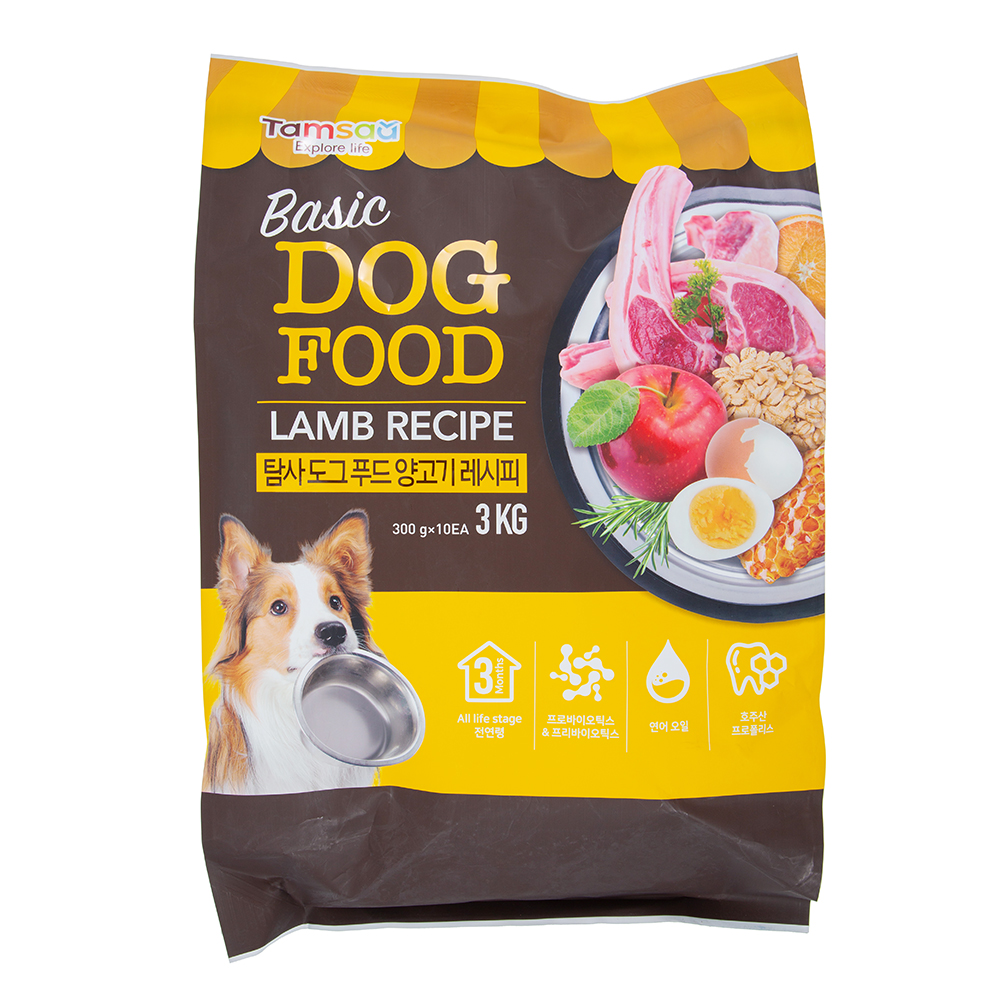 탐사 6free 강아지 사료 양고기 레시피, 3kg, 1개