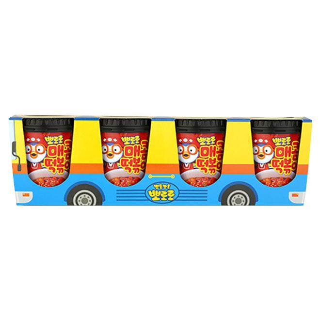 뽀로로 떡볶이 버스팩 매콤맛, 120g, 4개입