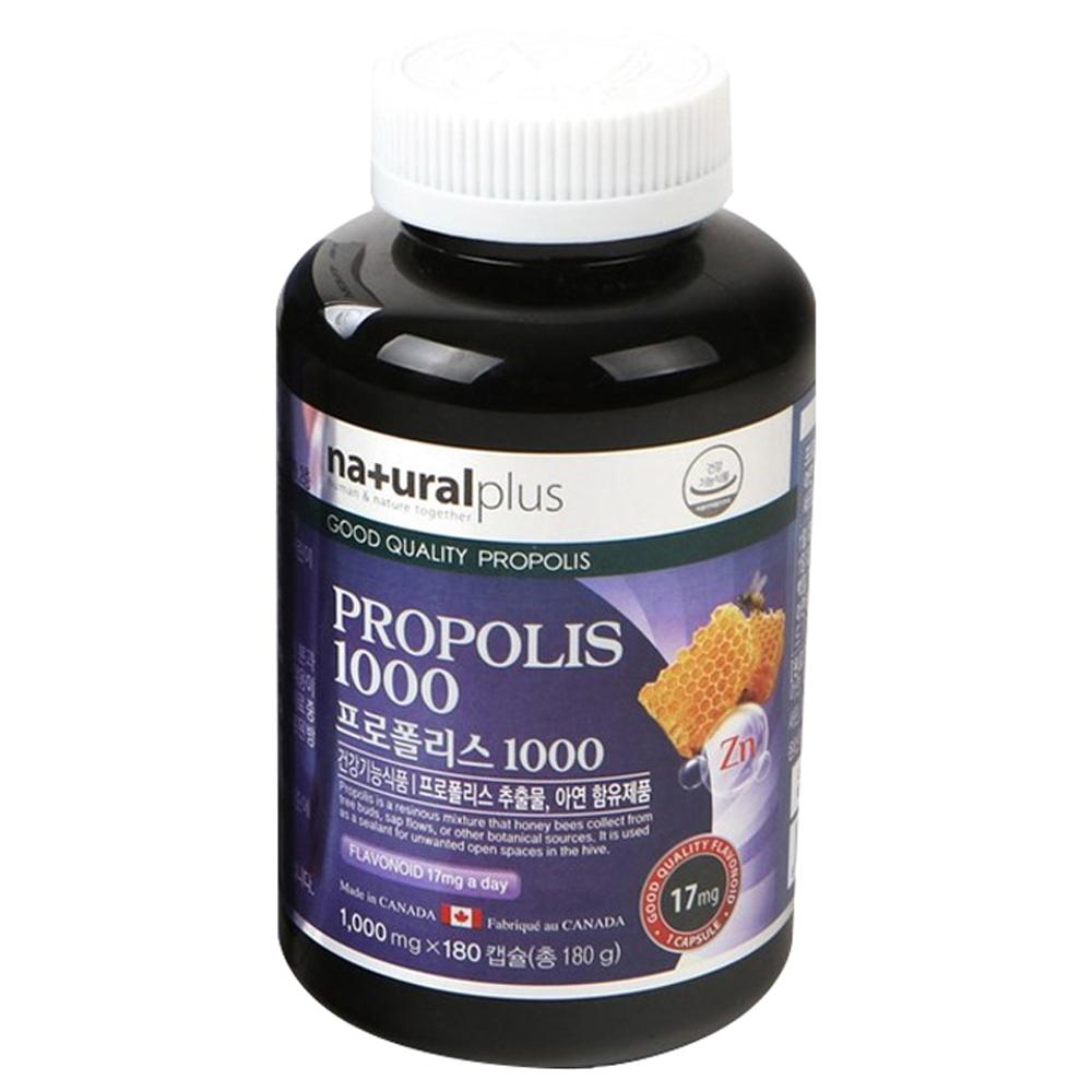 내츄럴플러스 프로폴리스 1000, 180캡슐, 1개