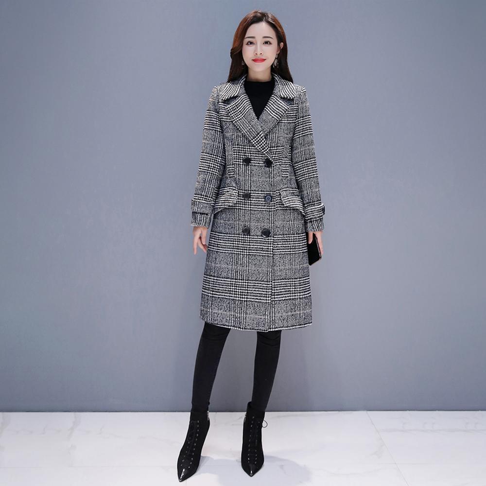 포플러앤씨 여성용 머렌 체크 코트