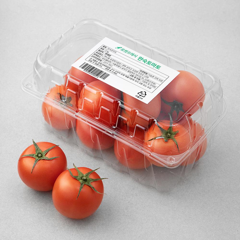 완숙토마토, 2kg, 1개