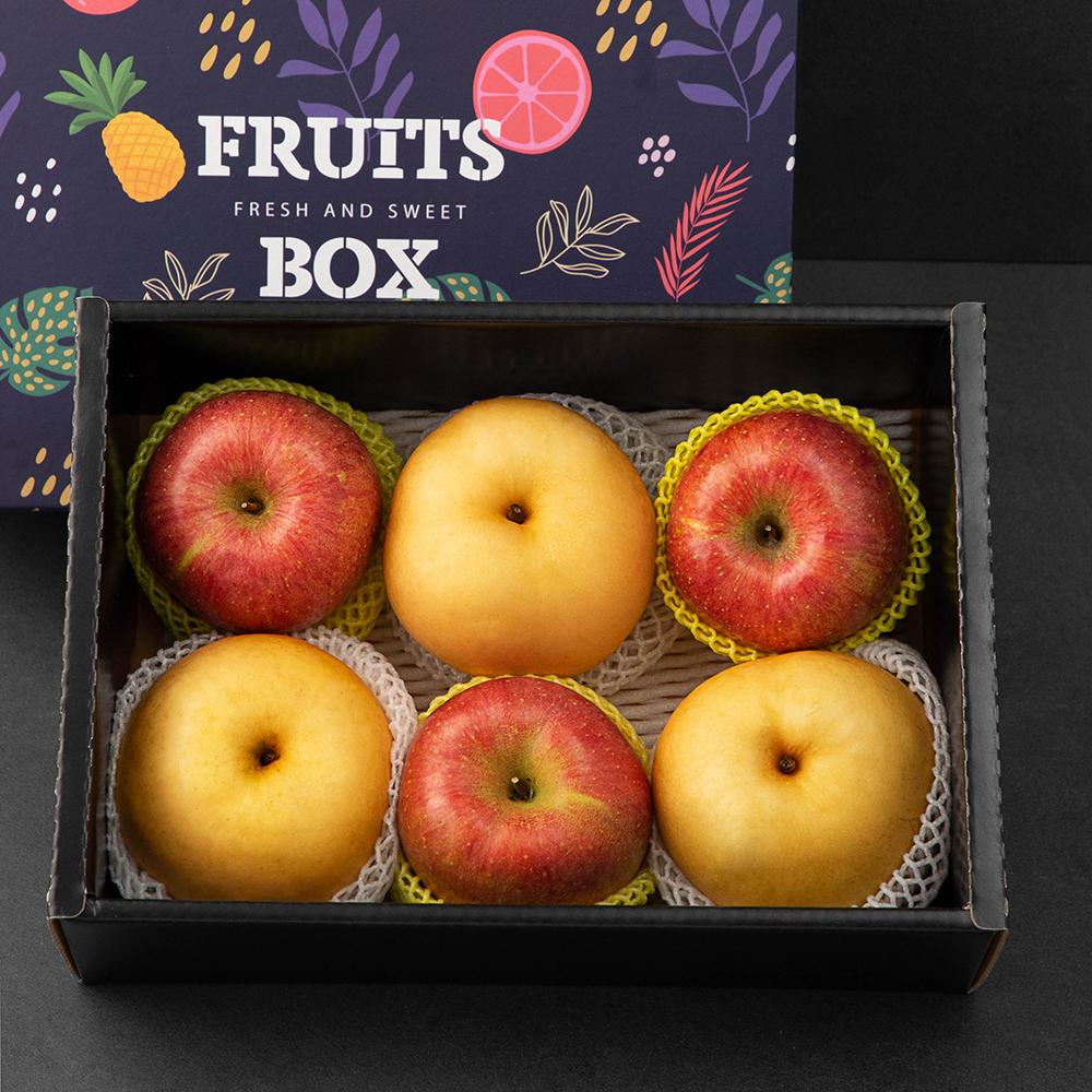 알찬 사과 배 혼합선물세트, 2.5kg(사과 3입 + 배 3입), 1세트