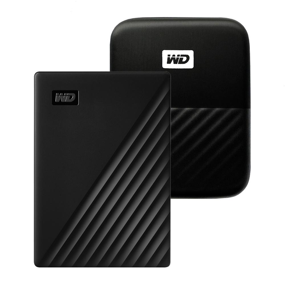 WD My Passport 휴대용 외장하드 + 파우치, 1TB, 블랙