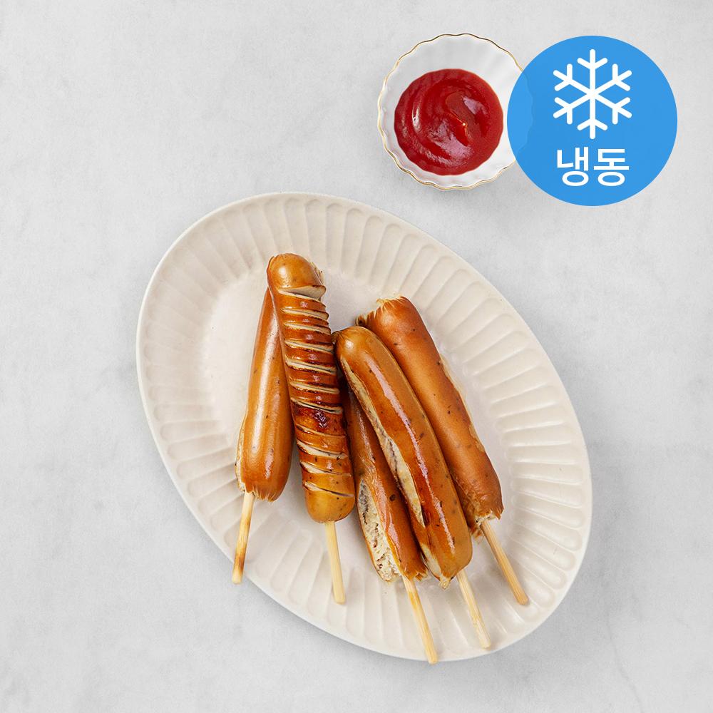 곰곰 프랑크 닭가슴살 소시지 꼬치형 (냉동), 70g, 5개입