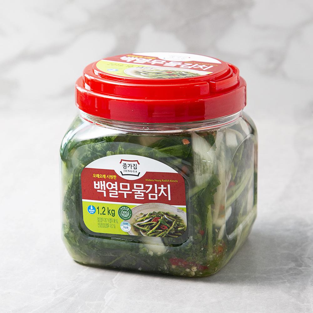 종가집 아삭백열무 물김치 PET, 1.2kg, 1개