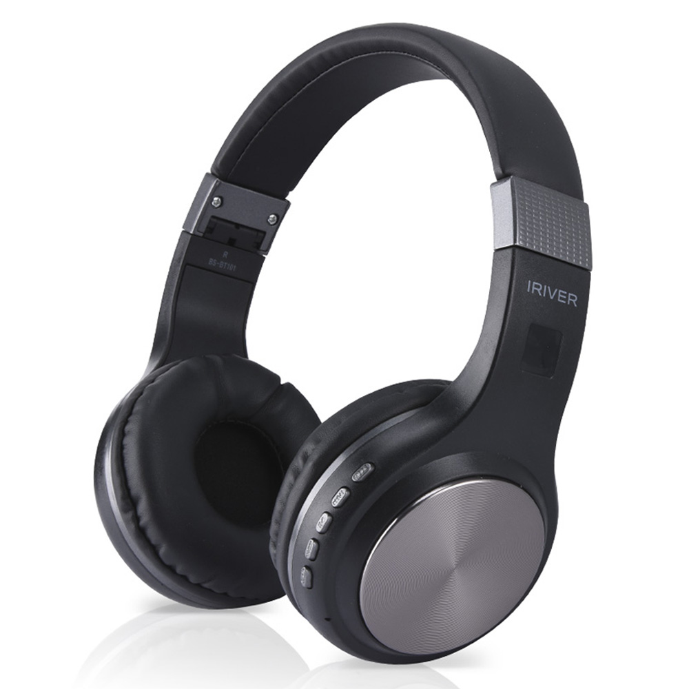 아이리버 블루투스 5.0 헤드폰, 블랙, BS-BT101
