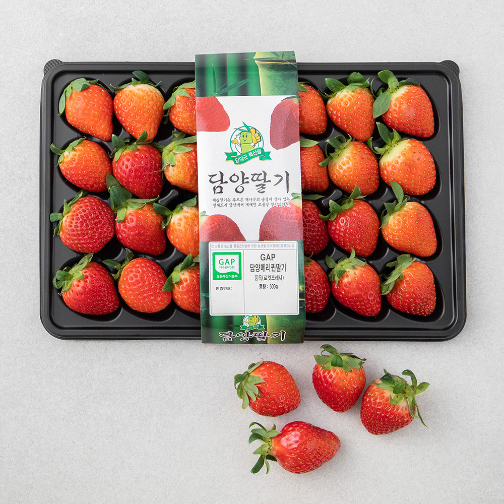 GAP인증 담양 메리퀸딸기, 500g, 1팩