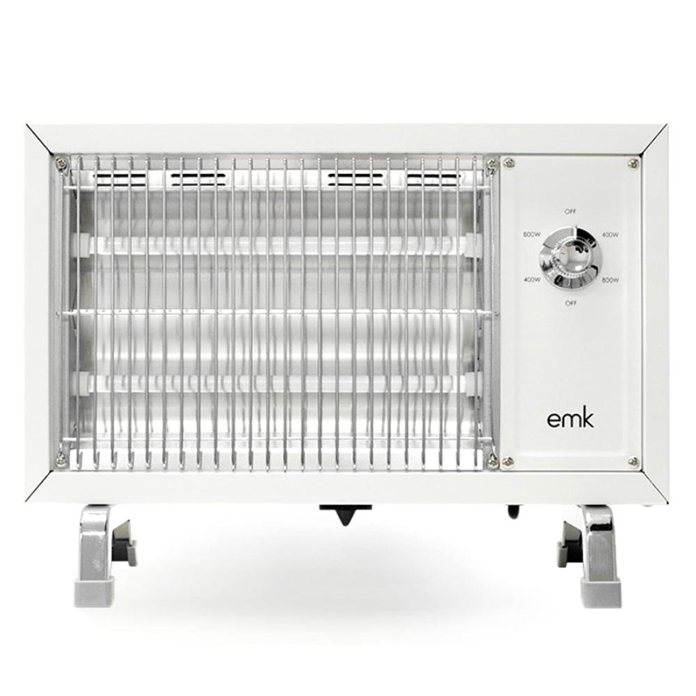 EMK 감성 레트로 전기히터 온풍기, 화이트, EQH-S1612