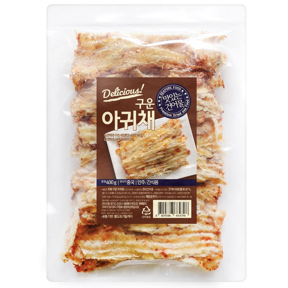해맑은푸드 구운 아귀채, 400g, 1개
