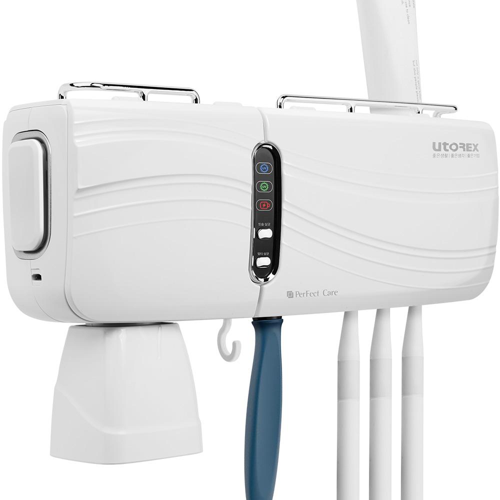 유토렉스 퍼펙트케어 충전식 무선칫솔살균기 URT-130CHW-S, 화이트