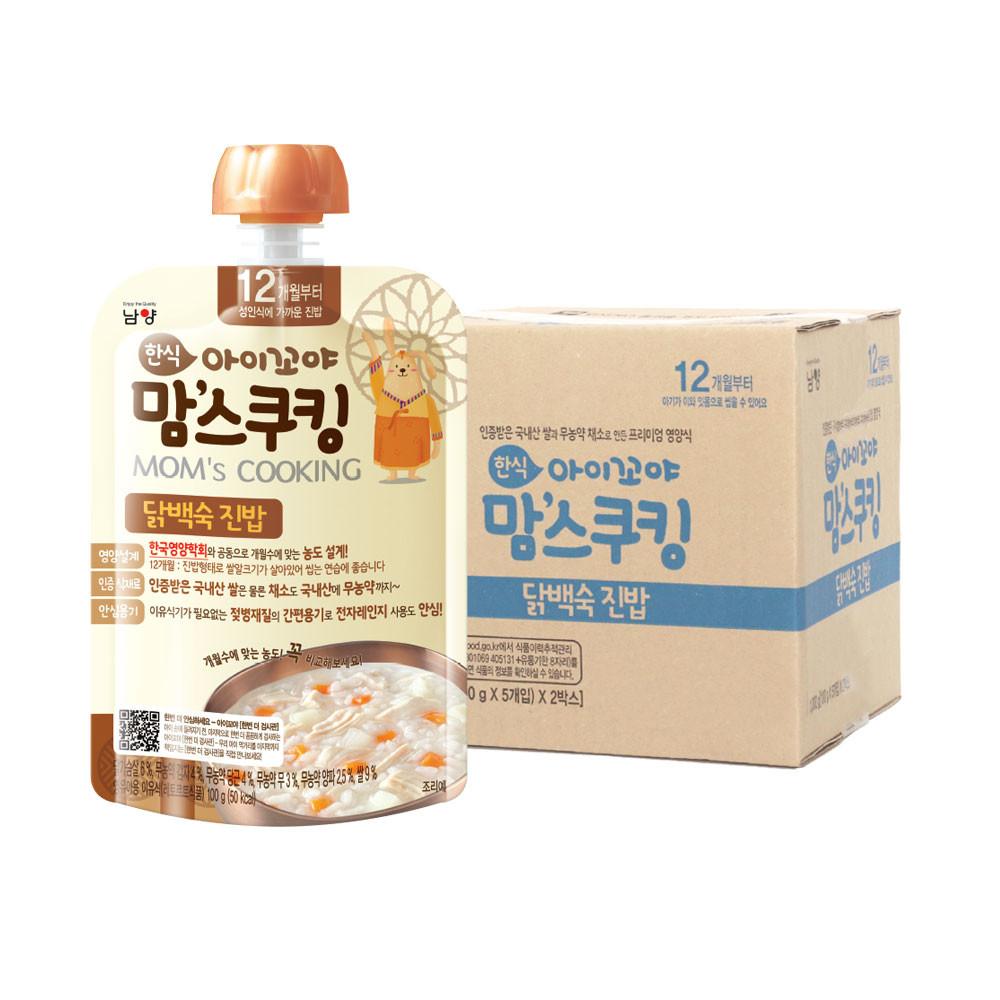 아이꼬야 맘스쿠킹 이유식 100g 12개월부터, 닭백숙 진밥, 10개