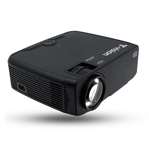 T-vision 무선 미러링 LED 빔 프로젝터, 블랙(TVS-250P)